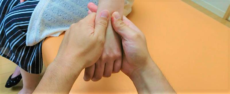 前腕や手指の筋肉や関節を緩めておく